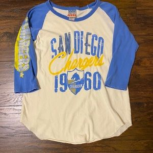 Junk Food retro San Diego Chargers quarter sleeve